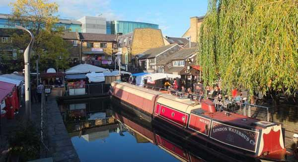 En spasertur langs Regents Canal i London