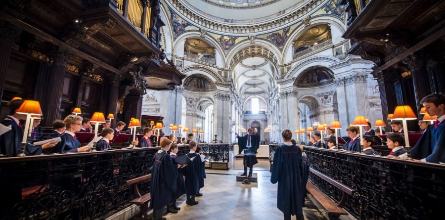 Evensong i St. Pauls Cathedral